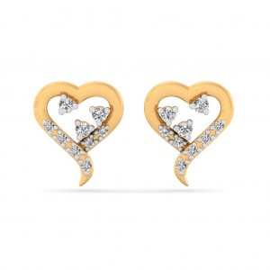 The Elisa Heart Earrings