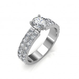0.79 carat Platinum Gold - Amyra Engagement Ring
