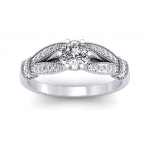 0.71 carat 18K White Gold - Nelly Engagement Ring