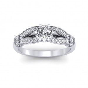 0.51 carat 18K White Gold - Nelly Engagement Ring