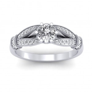 1.21 carat Platinum - Nelly Engagement Ring