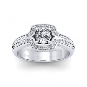 0.60 carat 18K White Gold - Amanda Engagement Ring