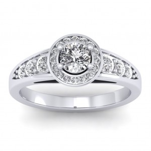 1.37 carat Platinum - Azzario Engagement Ring
