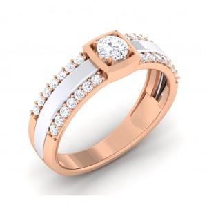 0.48 carat 18K White & Rose Gold - Naysha Engagement Ring