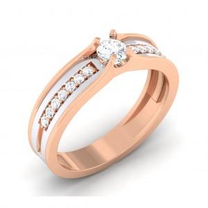 0.34 carat 18K White & Rose Gold - Tiana Engagement Ring