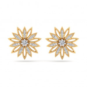sunflower Diamond Earring