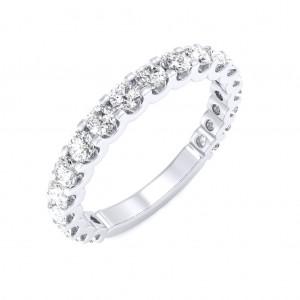 White Gold U Prong 3/4 Eternity Ring - 5 cent diamonds