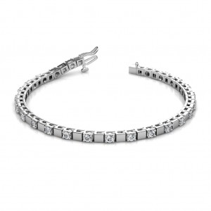 The Rosa Alternating Block Tennis Bracelet - 4 cent diamonds