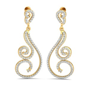 The Janet Diamond Long Earrings