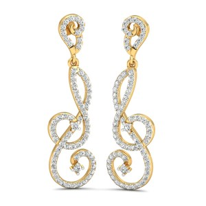 The Lixia Diamond Long Earrings