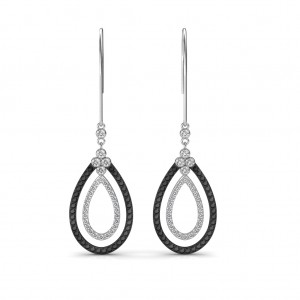 The Maya Black Diamond Earrings