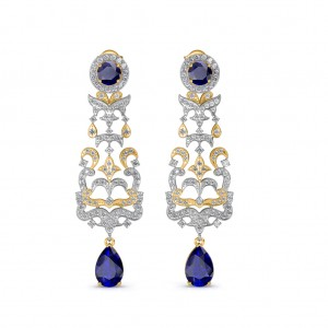 The Irina Chandelier Earrings - Yellow