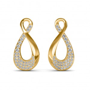 The Elsy Loop Diamond Earrings