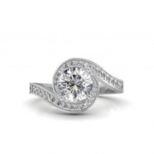 The Spiral solitaire Ring