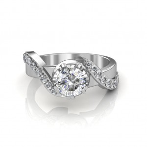 The Entwined Band Solitaire Ring