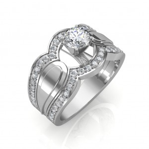 0.85 carat Platinum - Utopia Engagement Ring