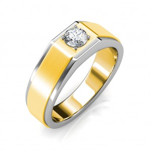 The Gordon ring for him - White - 0.50 carat