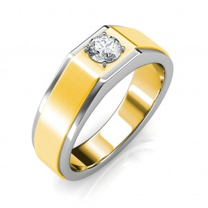 The Gordon ring for him - White - 0.70 carat