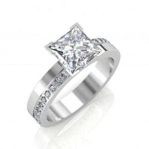 1.18 carat Platinum - Eternity Princess Engagement Ring