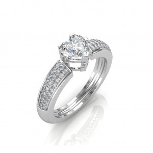 0.68 carat Platinum - The Ramona Heart Solitaire Ring