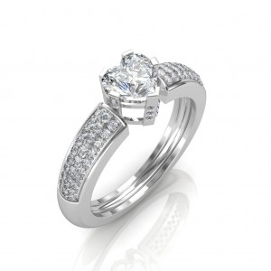 0.88 carat Platinum - The Ramona Heart Solitaire Ring