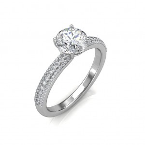 0.74 carat Platinum - Forever Love Engagement Ring