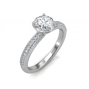 1.05 carat Platinum - Forever Love Engagement Ring