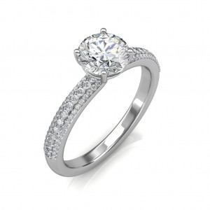 1.15 carat Platinum - Forever Love Engagement Ring