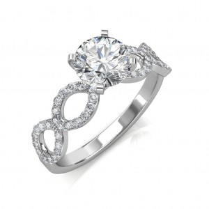 Hand-1.52 carat Platinum - Eternity Engagement Ring