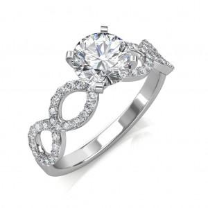 Hand-1.77 carat Platinum - Eternity Engagement Ring