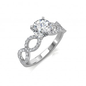 Hand- 0.82 carat Platinum -  Eternity Engagement Ring