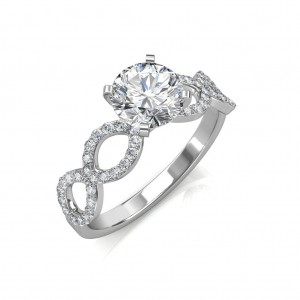 Hand- 1.02 carat Platinum -  Eternity Engagement Ring