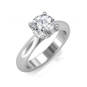 0.70 carat 18K White Gold - Classic Engagement Ring