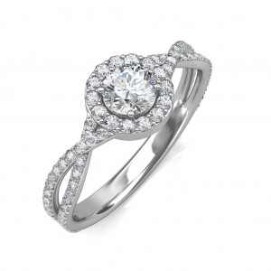 0.74 carat 18K White Gold - Zara Engagement Ring