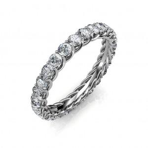 Astraea White Gold Full Eternity Ring - 5 cent diamonds