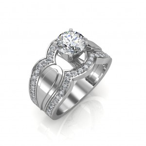 1.05 carat Platinum - Utopia Engagement Ring