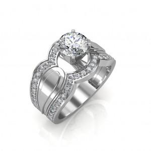1.25 carat Platinum - Utopia Engagement Ring