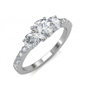0.85 carat 18K White Gold - Eternal Love Engagement Ring