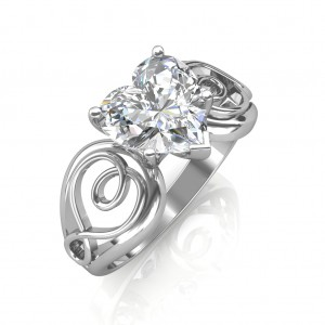 1 carat Platinum - Gelsey Engagement Ring