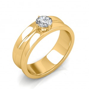 The Prius Ring For Him - Yellow - 0.90 carat