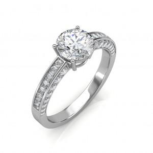 1.22 carat 18K White Gold - Zest Love Engagement Ring