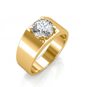 The Evergreen Solitaire Ring For Him - Yellow - 0.20 carat
