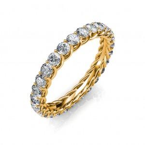 Astraea Yellow Gold Full Eternity Ring - 5 cent diamonds