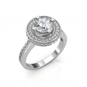 The Dual Halo Solitaire Ring