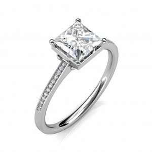 0.82 carat Platinum - THE JANE PRINCESS RING
