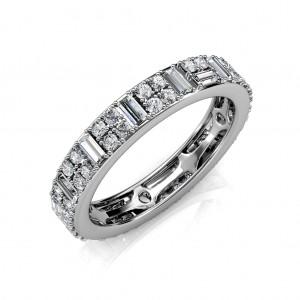 The Dot Dash Eternity Ring