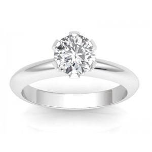1.00 carat Platinum - Classic Six-Prong /Six-Claw Engagement Ring