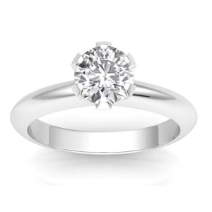 1.50 carats Platinum - Classic Six-Prong /Six-Claw Engagement Ring