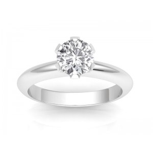 0.30 carat Platinum - Classic Six-Prong /Six-Claw Engagement Ring