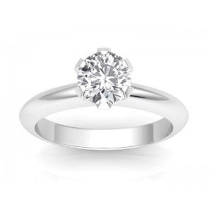 0.50 carat Platinum - Classic Six-Prong /Six-Claw Engagement Ring